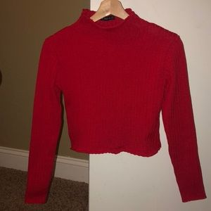 Red long sleeve turtle neck